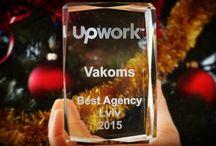 Upwork award: Vakoms - Best IT Agency