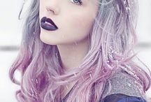 Pastel Rainbow Hair / Delicate but striking hair colours using rainbow dye mixed with white or pearlized pigments to reduce the intensity. Perfect as a temporary wash of colours for the light blonde who wants a change