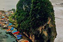 Village of Ko Panyi, Phang Nga Bay, Thailand