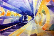 Watercolor / Akwarela / Akwarele namalowane w 2015. Autor: Karina Jaźwińska