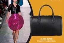 Marlafiji - Jackie black Cylinder bag