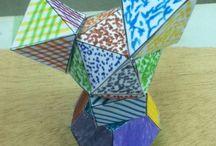 ESCULTURAS POLIEDRICAS / Tetraedro, hexaedro, octaedro, dodecaedro, icosaedro, nomes de difícil pronunciación, pero boas pedras para as nosas esculturas