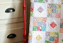 30's retro fabric quilts