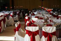 boda rojo y blanco