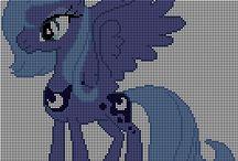 Haft krzyżykowy - Kucyki Pony