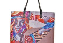 italian dream / kulikstyle.com tote bag with mural print on it