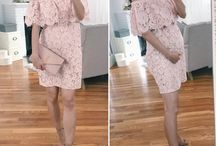 maternity outfit inspo / Maternity fashion does NOT have to be frumpy or boring! With the exception of pants, many of these looks (including for work, casual, or special occasion) are actually styled with non-maternity pieces.