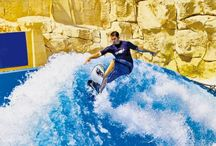 Wild Wadi / he first ever water theme park in the whole Middle East is the Wild Wadi, located in Jumeirah area where you will also enjoy the view of Burj Al Arab and Jumeirah Beach Hotel. A theme park that will surely make your whole family happy and satisfied with their unique slides, rides and exciting features. The water park is listed in the top 20 water parks in the world with over 890,000 visitors in the year 2011.