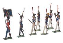 cynowe figurki / Zinnsoldaten lead plomb figures
