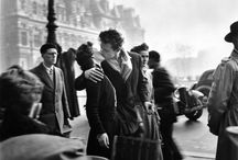 Robert Doisneau / Robert Doisneau (French: [ʁɔbɛʁ dwano]; 14 April 1912 – 1 April 1994) was a French photographer. In the 1930s he used a Leica on the streets of Paris. He and Henri Cartier-Bresson were pioneers of photojournalism. He is renowned for his 1950 image Le baiser de l'hôtel de ville (Kiss by the Town Hall), a photograph of a couple kissing in the busy streets of Paris. Doisneau was appointed a Chevalier (Knight) of the Legion of Honour in 1984. / by Svein Nordrum