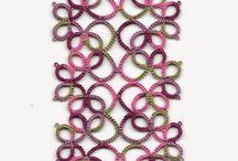Priscilla Bookmark ...by Robin Perfetti ...... diagram with stitch count in adjoining pin.