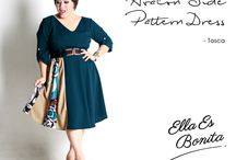 2015 - Avalon Side Pattern Dress / Side pattern dress which specially designed for sophisticated curvy women originally made by Indonesian Designer & Local Brand: Ella Es Bonita.