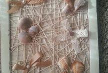 Voglia di mare / Quadro decapato in legno