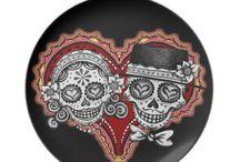 Laughing skulls