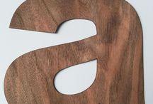 Letras de madera. / Letras de chapa de madera. Una forma ligera de decorar con madera.