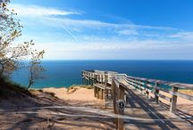"Sleeping Bear Dunes of Michigan / Images from Michigan's Sleeping Bear Dunes - Voted ""Most Beautiful Place in America"" by viewers of Good Morning America"