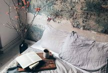 Cups, books, beds