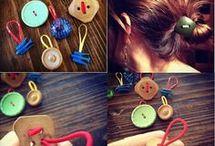 ferma capelli con bottoni