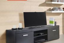 Black TV Stand Living Room Furniture Storage Unit Modern Table Sideboard Home