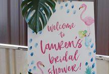 bridal shower tropical