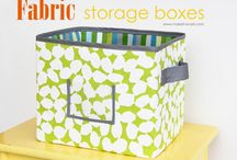 fabric storage / by Adorie's Designs