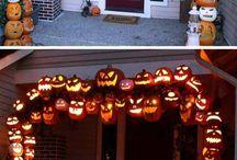 halloween tök ajtó