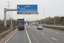 Motorway Signs - Blue