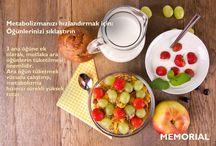 'Metabolizmanızı hızlandırmak' / Memorial Öneriyor