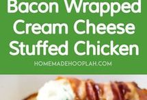 cheesy chicken wraps w/bacon