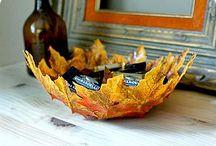 Taza de hojas bellas manualidades