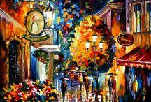 Leonid Afremov paintings / The wonderful art created by Leonid Afremov.