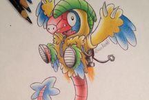 dessin pokemon capuche