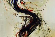 Artiste verrier Michel Mailhot / Tableau en verre.