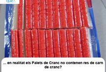Palets de cranc / Palitos de cangrejo / Aquí trobaràs curiositats sobre els palets de cranc / Aquí encontrarás curiosidades sobre los palitos de cangrejo
