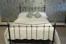Antique metal beds