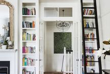 Bookcases and library ladders