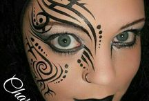 Facepainting tribal