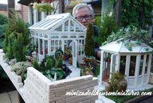Glasshouse in the garden... / Website: minizadollhouseminiatures.com FB: Miniza dollhouse miniatures 1:12