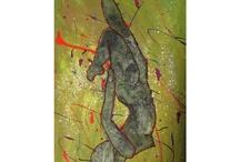 Wax, candles paintings - Arte di cera su tela