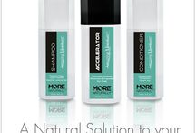 Shampoo, Conditioner and Accelerator / Nourish, Cleanse and Awaken. A natural solution to your daily routine.