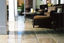 Concrete Patios / Stained concrete patios