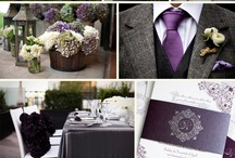 Amethyst + Charcoal!  / Wedding inspiration in Amethyst + Charcoal!