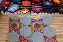Crochet: MANTAS / Ideal para elegir la combinación de colores de tu próxima mantita!!!!