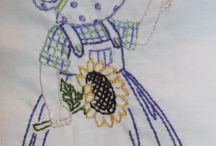 Bonecas bordadas sunbonett e outros