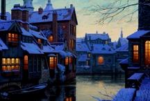 kış gece