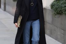 Long black coat outfit