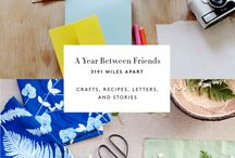 Our new book!: A Year Between Friends