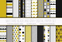 paleta de cores, estampas e padrões