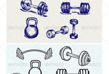 dumbbell tatoo