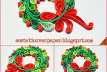 Quilling Christmas wreath / Quilling